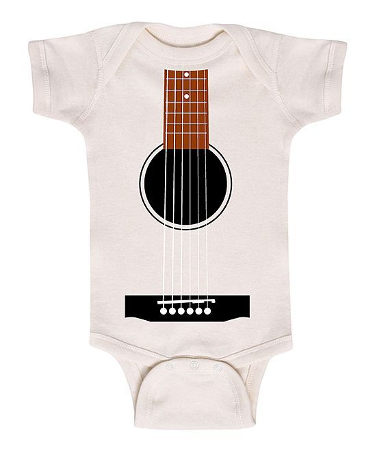 Natural Acoustic Guitar Bodysuit - Infant
