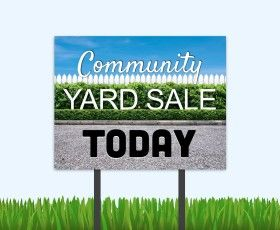 Clean up the community with a yard sale! #yardsale #communityyardsale #residentevent
