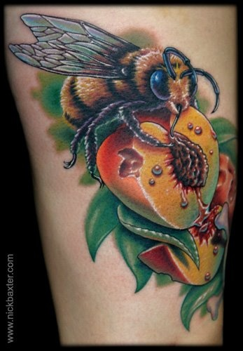 This bee tattoo for Israel, bees are some of the smartest insects in the world