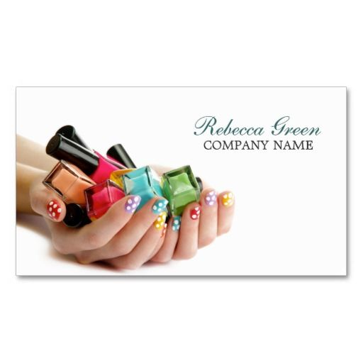 19 best nails business card images on pinterest manicures nail modern colorful nail salon business card templates flashek Images