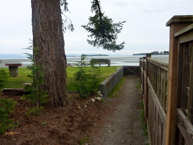 Tanglewood Resort private beach access to #Rathtrevor Beach #VancouverIsland