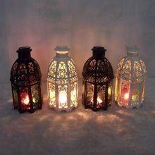 2016 Classic marroquí porta velas de decoración votiva cristal de hierro…