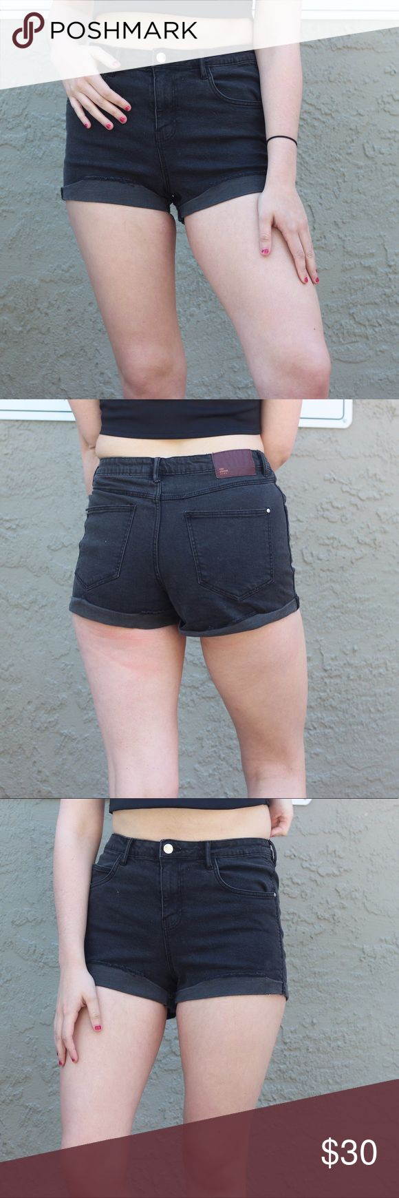 Zara high waist shorts Black high waisted shorts. Super co,fly and stretchy. Never worn Zara Shorts
