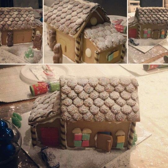 2015 Gingerbread house. I love my recipe, it's so easy to make. Maybe next year a bigger house.