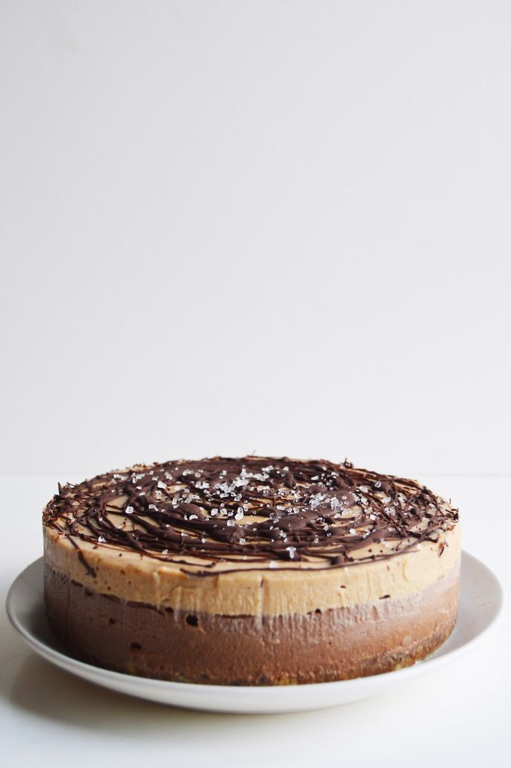 #Vegan Chocolate and Salted Caramel Cheesecake