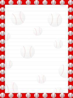 Printable Baseball Stationery from PrintableTreats.com ...
