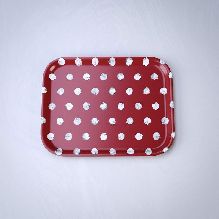 Cat polkadot red - pieni tarjotin / small tray 20cm x 27cm - Norteva