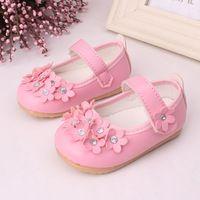 2016 jeseň nové detské topánky dievčenské topánky kvetina dieťa batoľa topánky mäkké dno jednotlivé topánky detské Frist chodítka