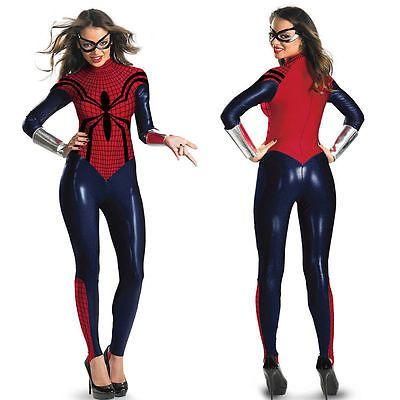 Halloween Spider Women Super Hero Costume fancy dress Cosplay bodysuit  | eBay