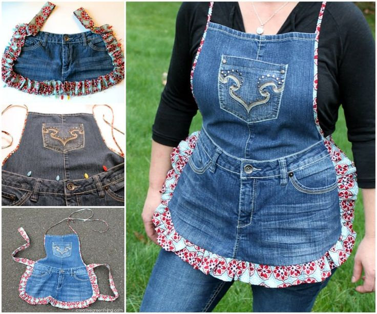 Give some old Jeans a new lease on life and turn them into a fabulous Denim Apron! Look great while cooking up a storm!