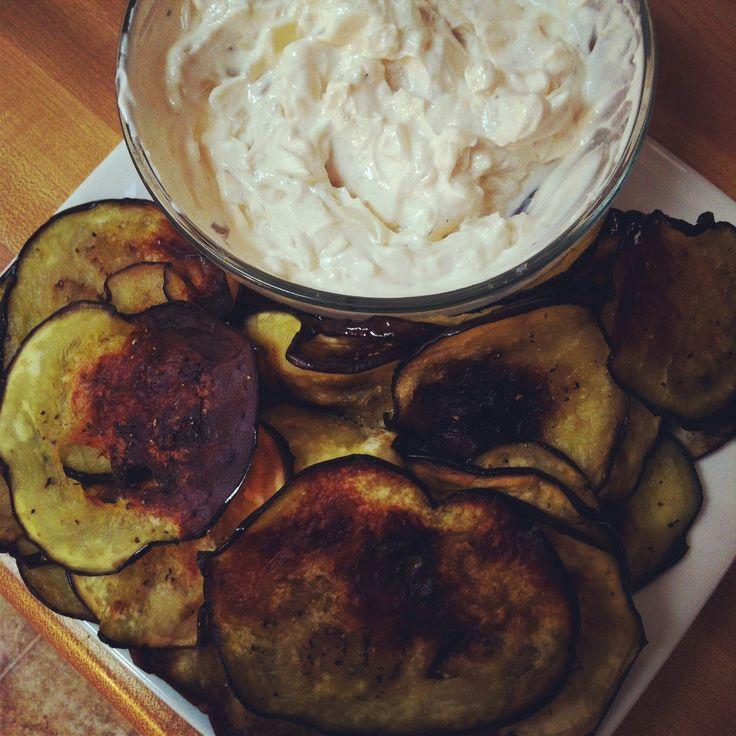 Eggplant Chips & French Onion Dip | Paleo/Primal: Savory | Pinterest