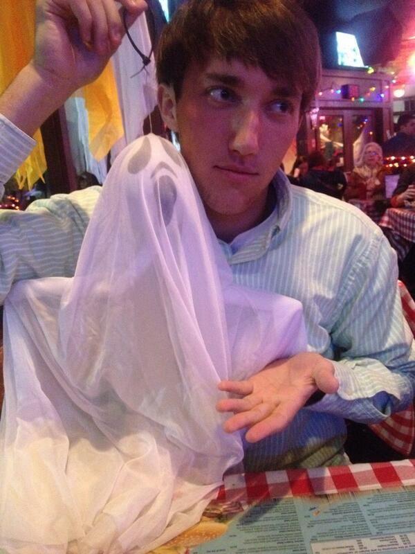 looks like sydney watsons friend is enjoying our halloween decorations
