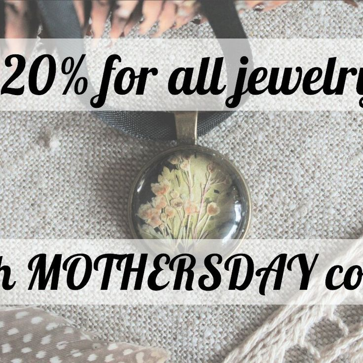 Get -20% for all botanical jewelry with the MOTHERSDAY coupon code <3