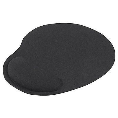 Black Wrist Comfort Mice Pad Mat MousePad For Optical / Trackball Mouse