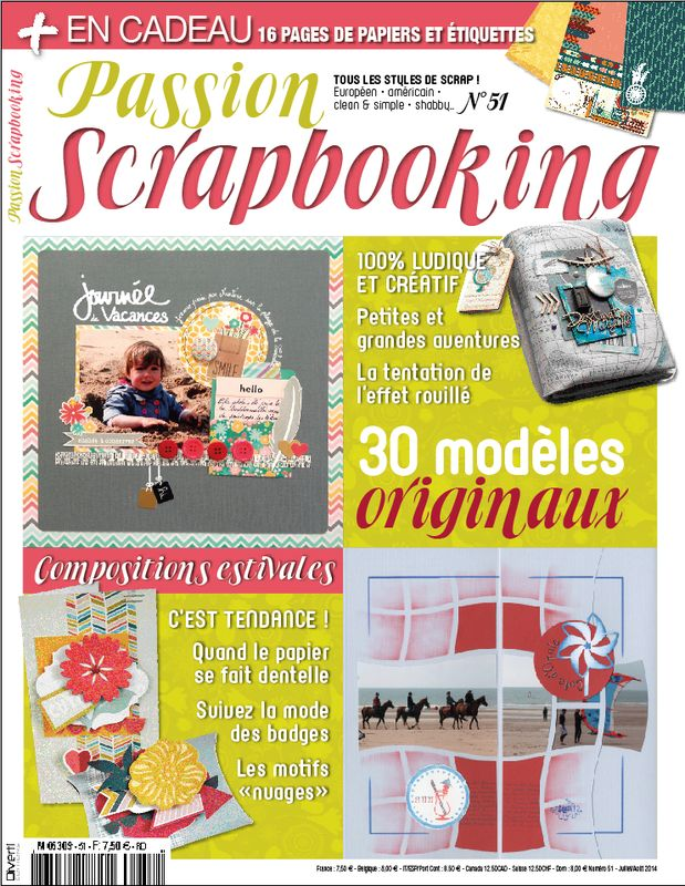 Avant premi�re : Passion Scrapbooking n�51