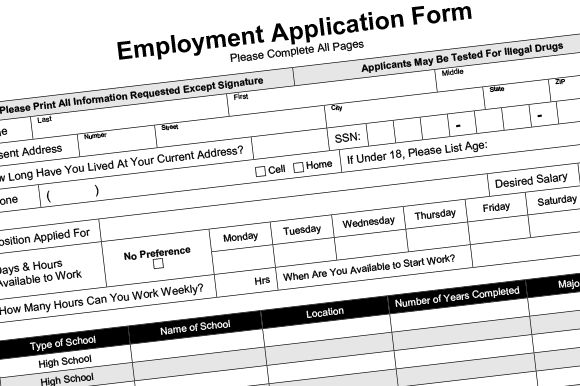 Employment Application Fillable PDF Cv template and Resume cv - employee application forms