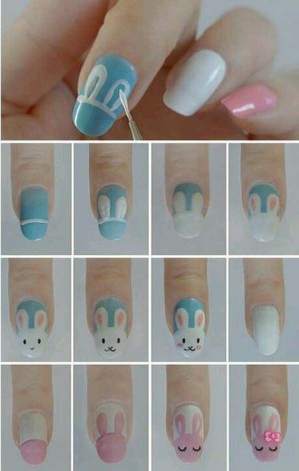 Easter Nail Designs 2014 This makes it look really easy. I'm gonna try and post pics of what it looks like and what it's supposed to look like. Hahaha