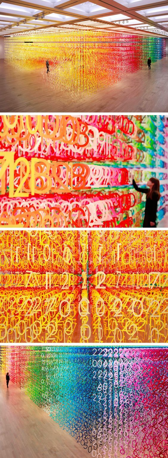 An Immersive Forest of 60,000 Rainbow Numbers by Emmanuelle Moureaux