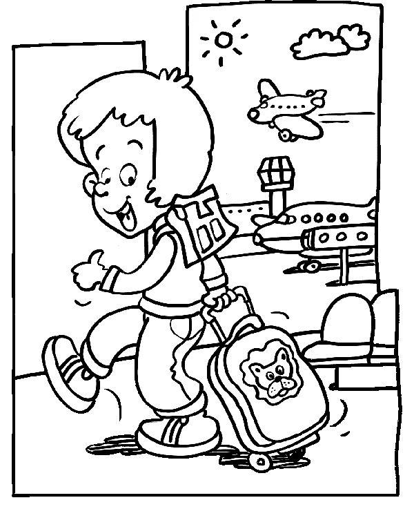 * Met het vliegtuig!
