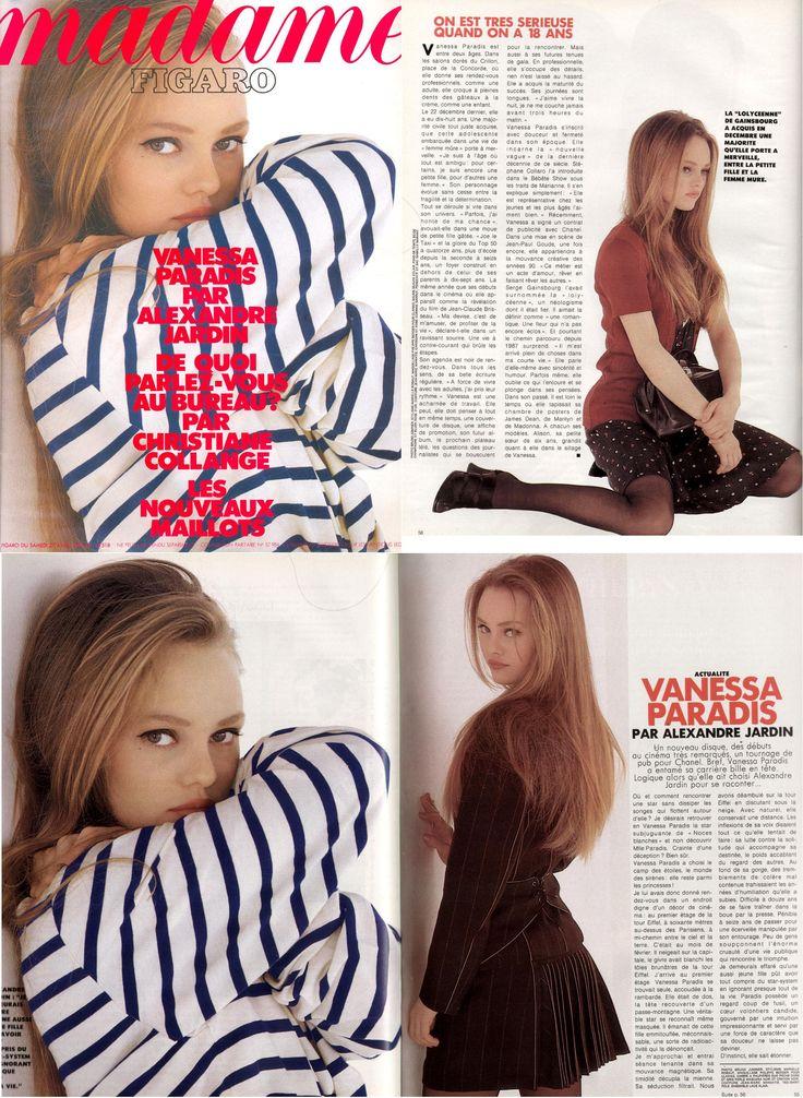 Vanessa Paradis Avril 1991 Le Figaro