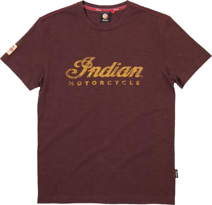 Men's Brown Logo T-Shirt Indian Motorcycle