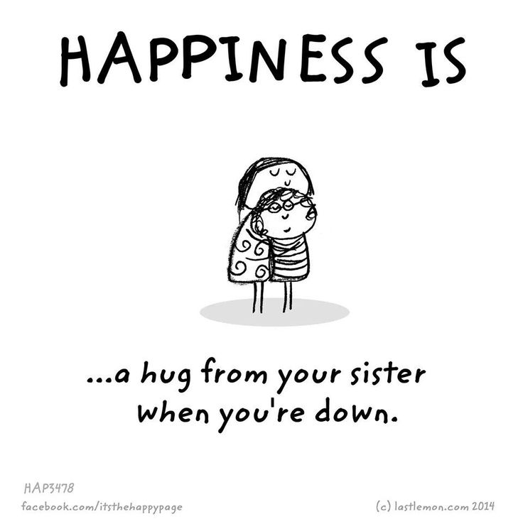 Happiness is #sister #hug