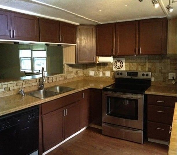 1973 pmc mobile home remodel bandung corner cabinets and cabinets Mobile home kitchen remodel pictures