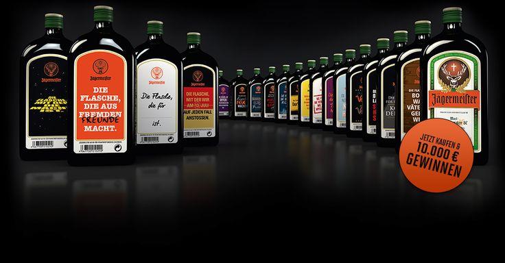 Jägermeister Flaschen Sammlung