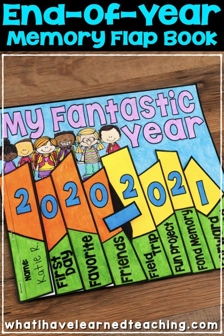 End Of The Year Memory Book Flap Book In 2021 Classroom Memory Book Flap Book Memory Book School [ 1088 x 725 Pixel ]