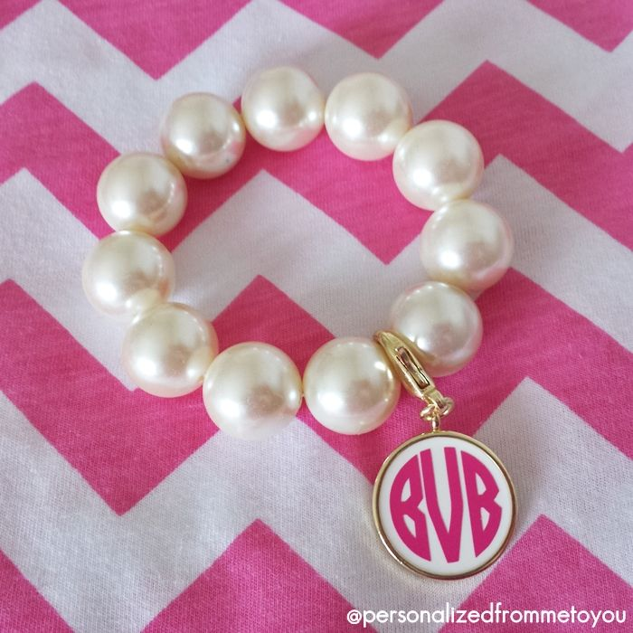 Pink, Pearls and Monograms = Perfection!