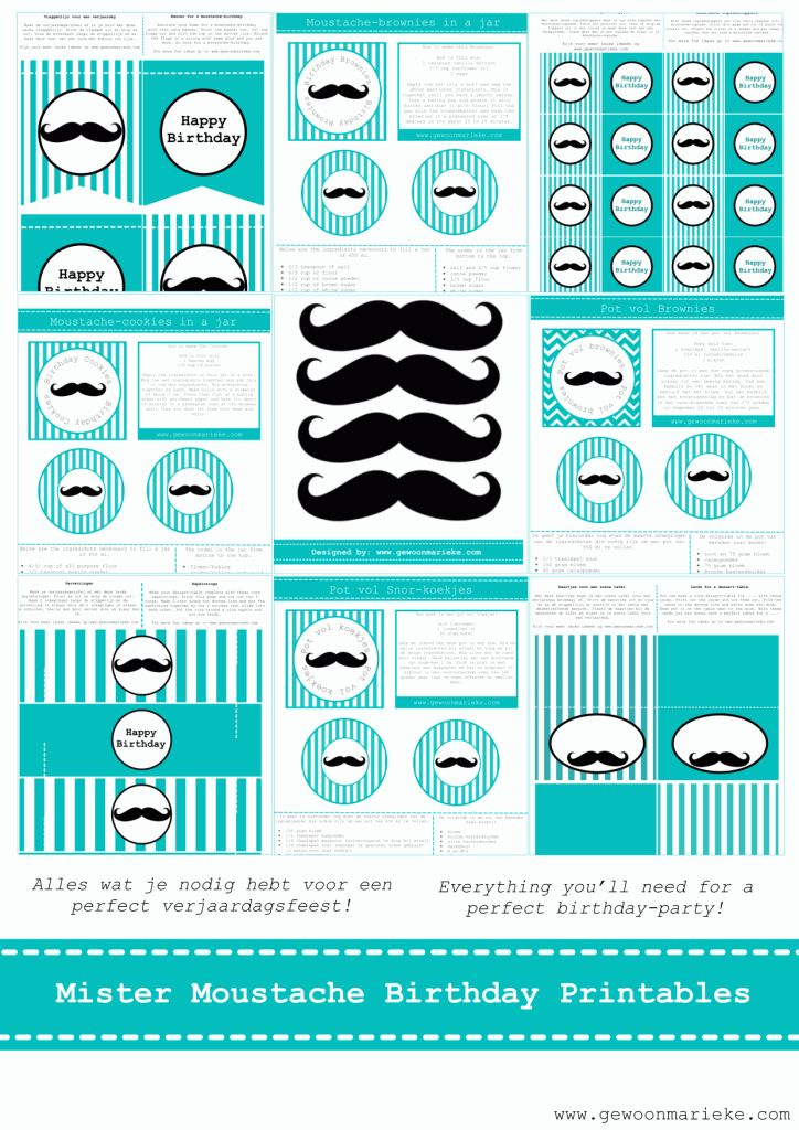 It is a Mister Mustache birthday | Gewoon Marieke