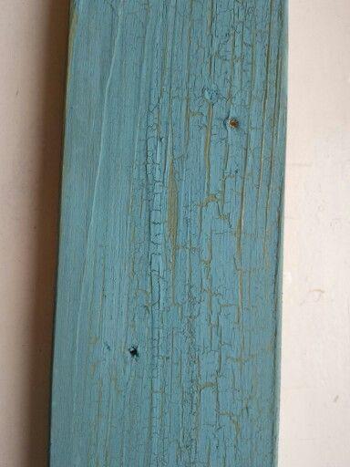 Crackle Glaze - Vintage Antique Turquoise sur Vert Olive. #crackleglaze #autentico #patiner #peinturealacraie