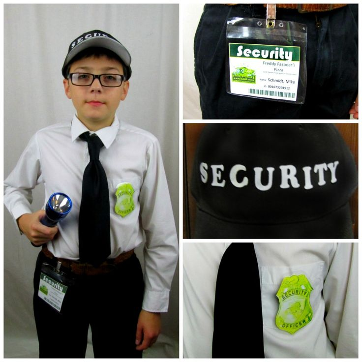 DIY Five Nights at Freddy's Security Guard Costume for Halloween (or CosPlay)