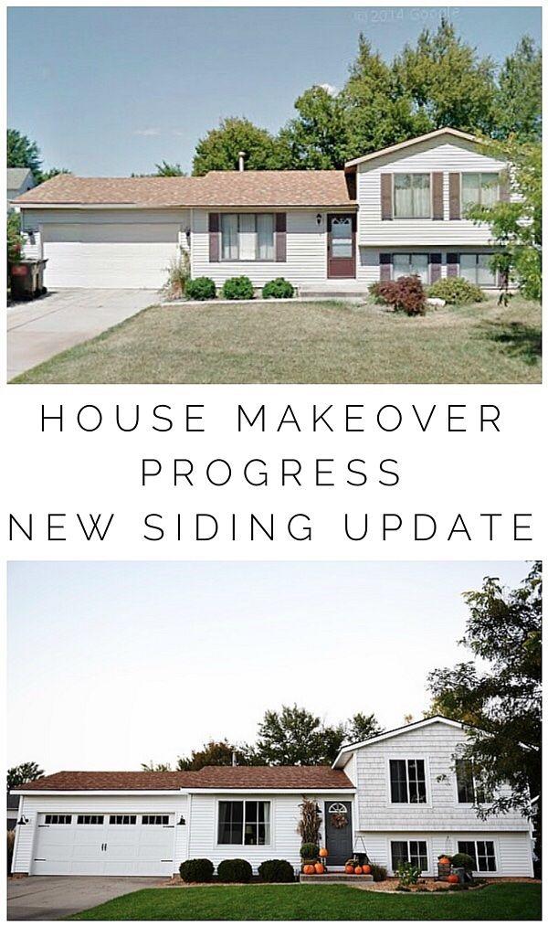 40 best quad level home remodel exterior images on for Quad level home remodel