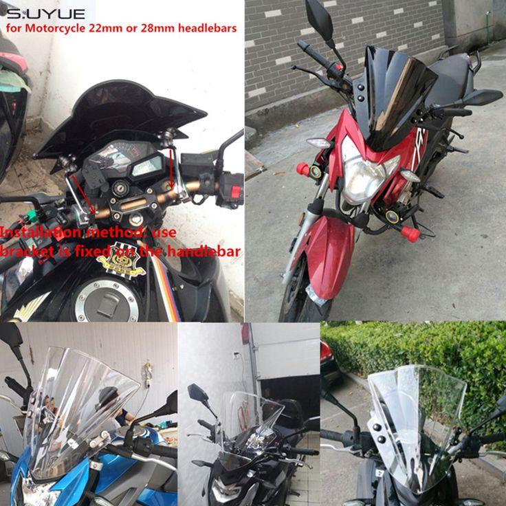 promo s uyue motorcycle windshield windscreen bicicleta wind screen for suzuki for honda cb 400 #motorcycle #windshields