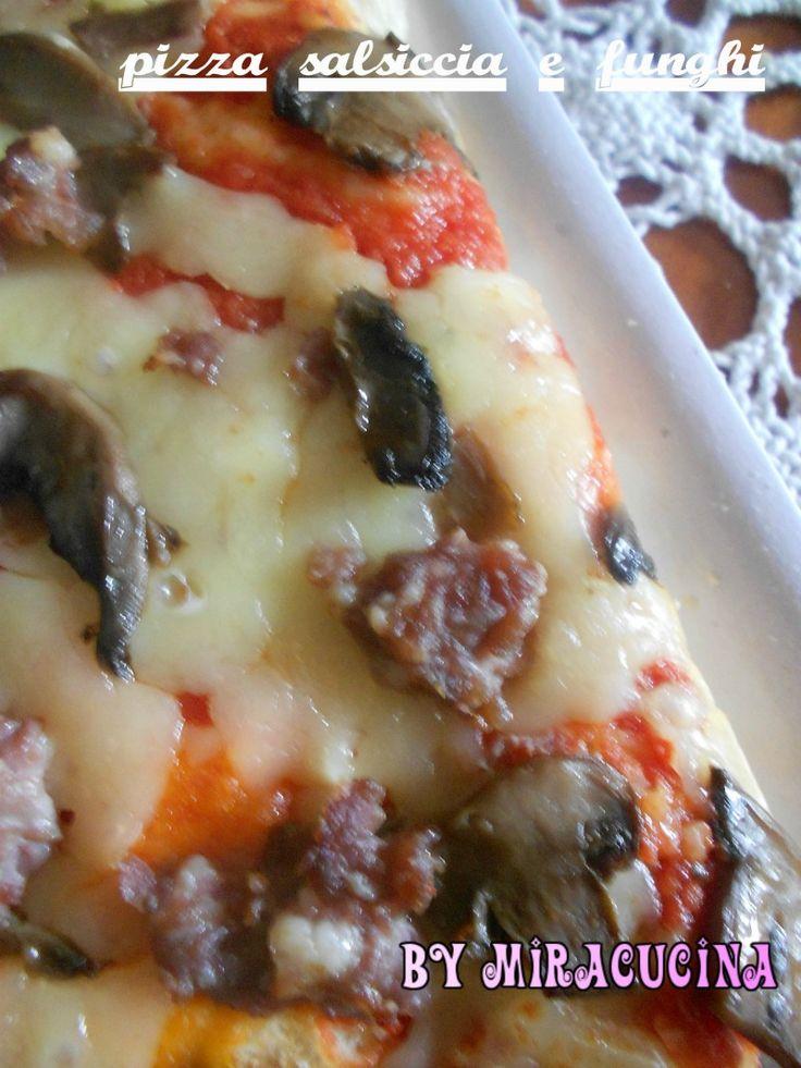 PIZZA SALSICCIA E FUNGHI CON PASTA MADRE BY MIRACUCINA