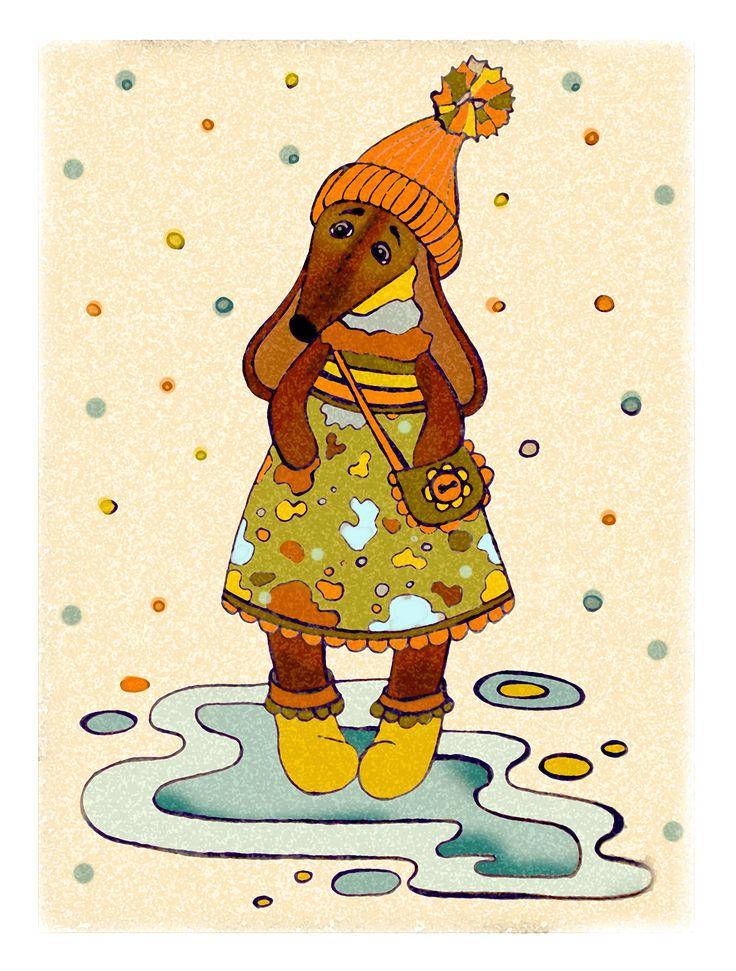 Просмотреть иллюстрацию Такса Лапка из сообщества русскоязычных художников автора Алина Рыжова в стилях: Другое, нарисованная техниками: Смешанная техника.