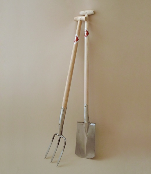 sneeboer - 3-tine digging fork + spade with steps