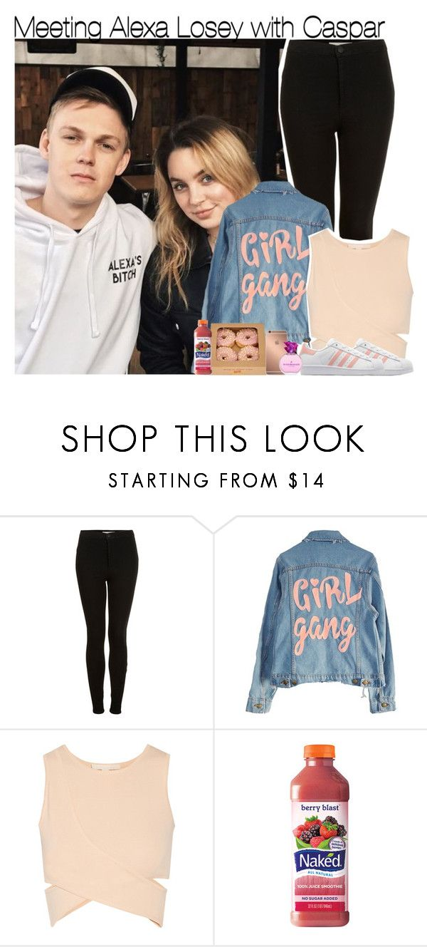 """""""Meeting Alexa Losey with Caspar"""" by rowenafsouriya ❤ liked on Polyvore featuring Topshop, High Heels Suicide, Jonathan Simkhai, adidas Originals and Mura"""