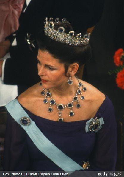 Queen Silvia wore this tiara for the 1978 Nobel Prize Ceremony and Dinner.