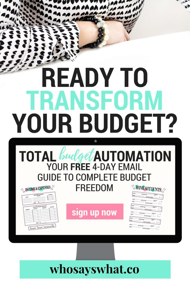 The ultimate budget system!  Ready to take your budget to the next level?  Learn how to automate your budget in 4 steps and let your budget balance itself each month.  Say goodbye to spending time budgeting your income and expenses!