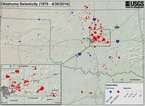 5/5/2014 Mile for mile, there are almost as many earthquakes rattling Oklahoma as California this year. This major increase in seismic shaking led to a rare earthquake warning today (May 5) from the U.S. Geological Survey and the Oklahoma Geological Survey.