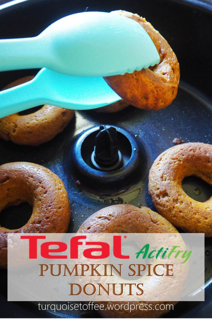 Actifry Donuts Pumpkin Spice Healthy Baked Fried Diet Doughnuts Turquoise