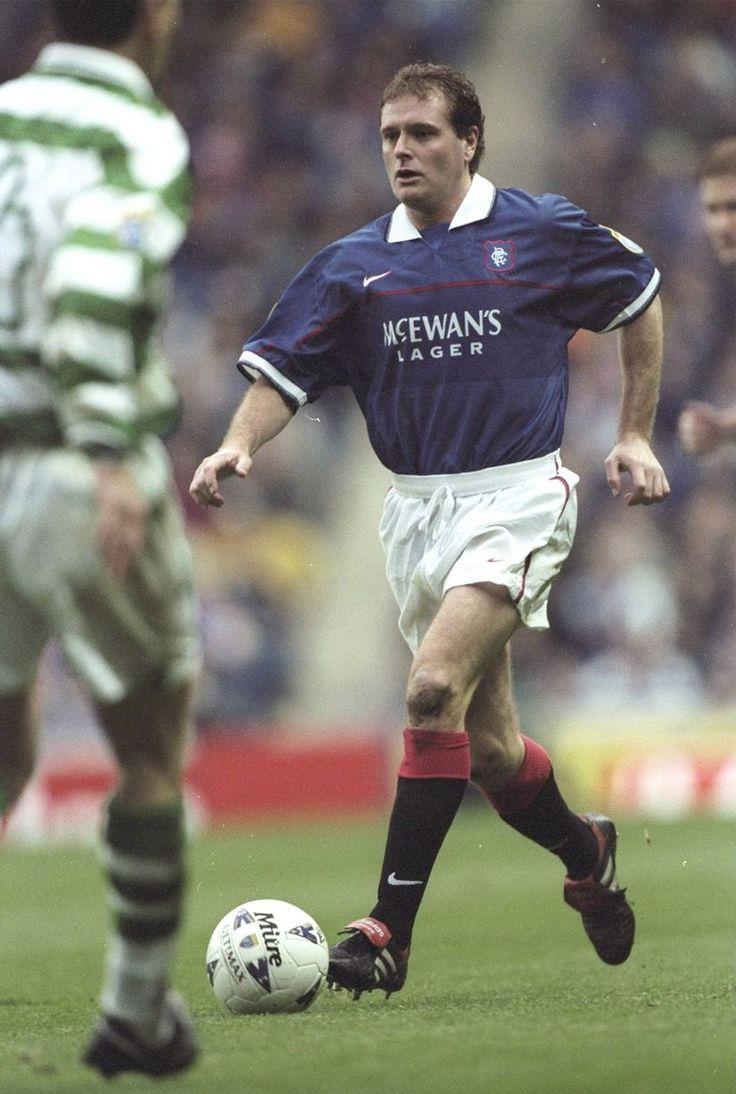 Paul Gascoigne in action for Rangers against Celtic in 1997.