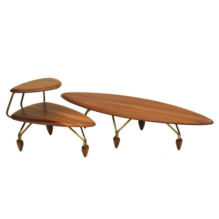 Brown Saltman Surfboard Tables. 1950s John Keal For Brown Saltman Rare And  Important Surfboard Coffee