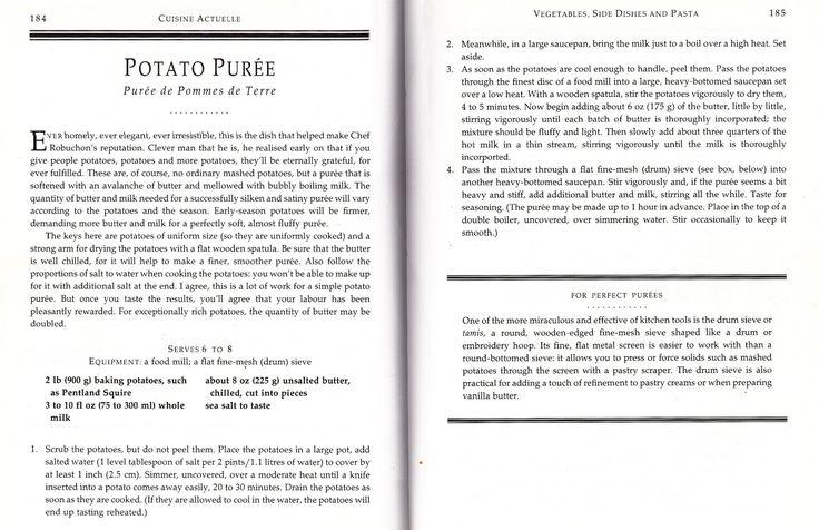 More Cookbooks Than Sense: Signatures: Pommes Puree (Robuchon)