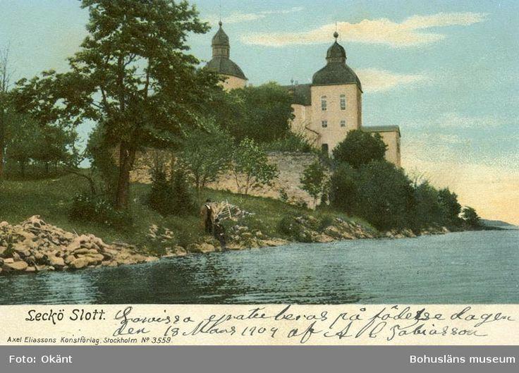 Digitalt Museum - Notering på kortet: Leckö Slott.
