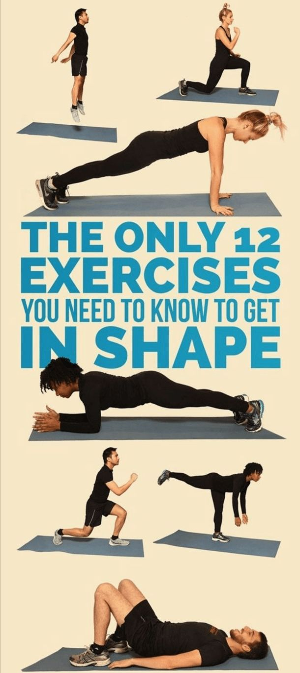 These are the only 12 exercises that you need to know to get in shape – Surreal Dream