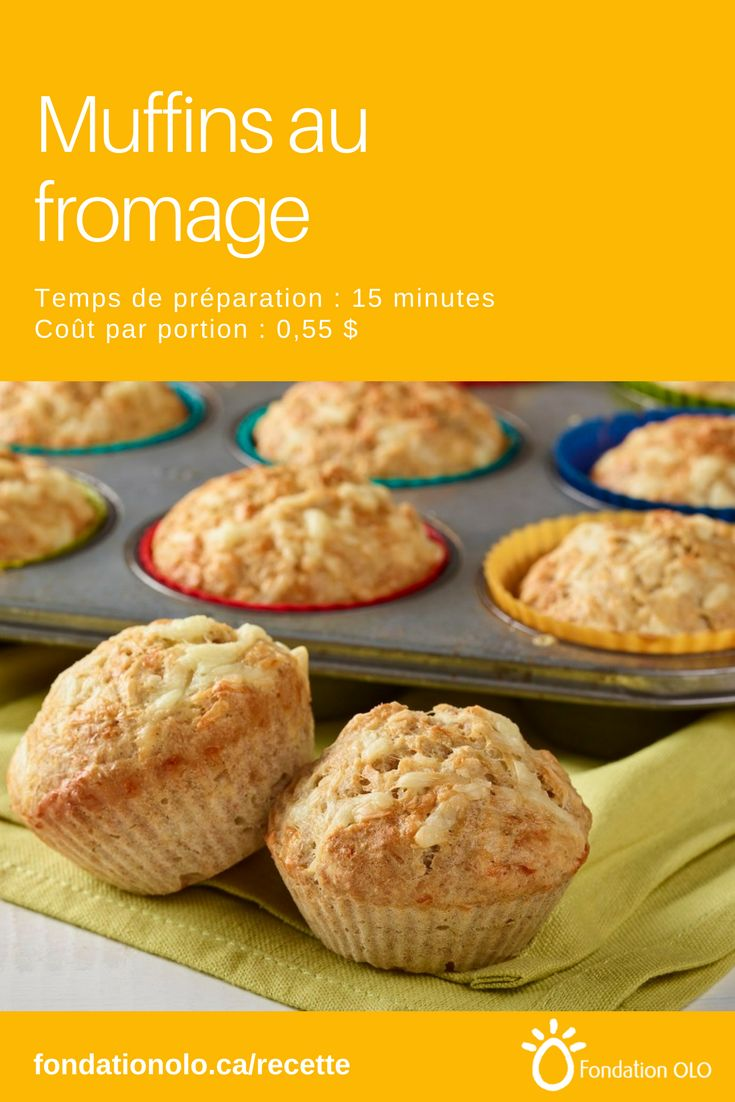 Les muffins au fromage peuvent accompagner votre soupe, salade ou plat principal |  Recette facile, Recette économique, Recette rapide, Recette nutritive #fromage #muffin