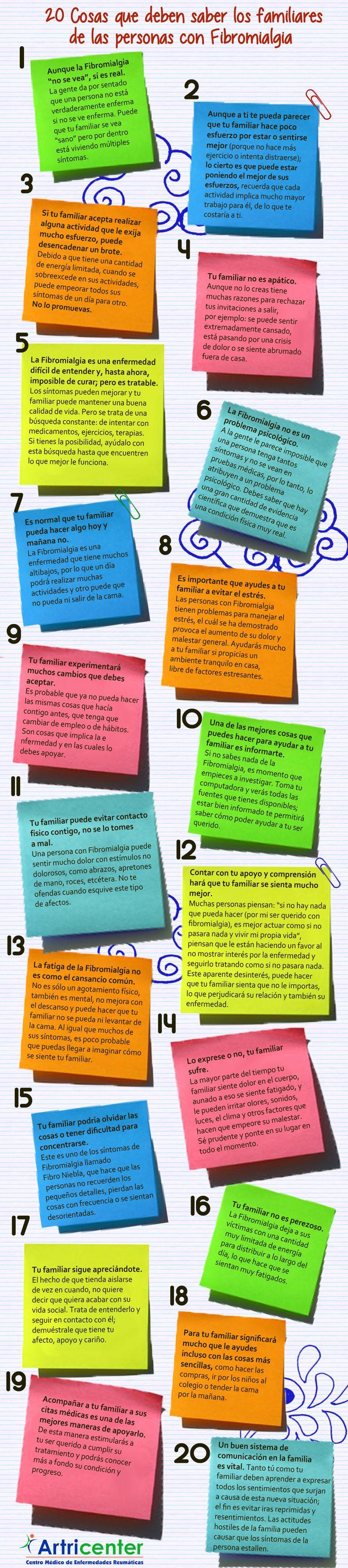 20 cosas que deben saber los familiares de las personas con fibromialgia.